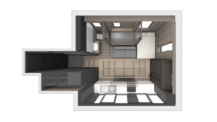 マイクロ建築は、以前は「ウサギ小屋」なんて称されていた住宅アイディア。しかし近年ではその突き抜けた省スペースさから、再評価されているようです。香港にあるすべてが可動する家は、そんなマイクロ住宅の好事例のひとつ。1
