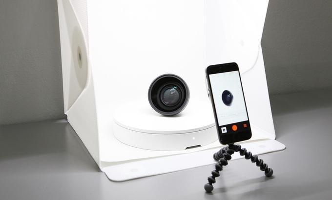 スマホでの360°商品画像を簡単に作成できる便利なスマートターンテーブルFoldio 360_1