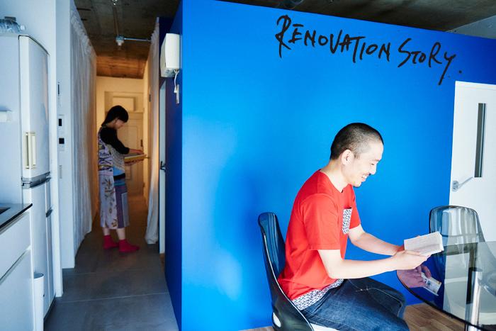 東京都港区麻布十番の中古レトロマンションをリノベーションをし、趣味の音楽が楽しめる防音室を完備して趣味に生きる土居さん夫妻