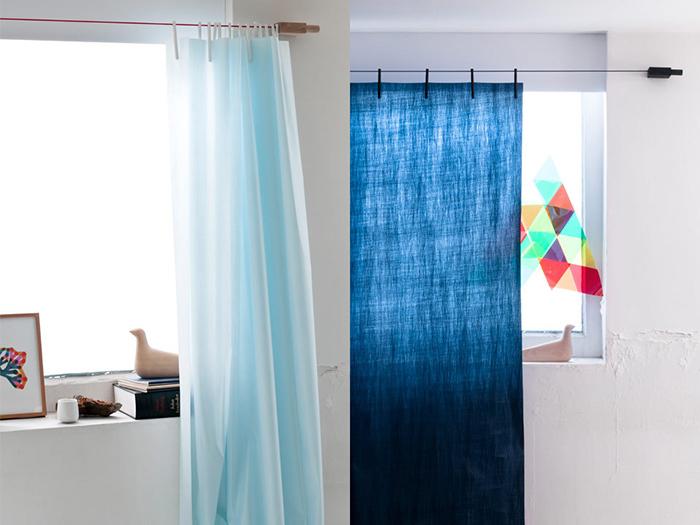 クリップで留めて吊るだけ。採寸不要のおしゃれでかわいいカーテン「Ready Made Curtain」