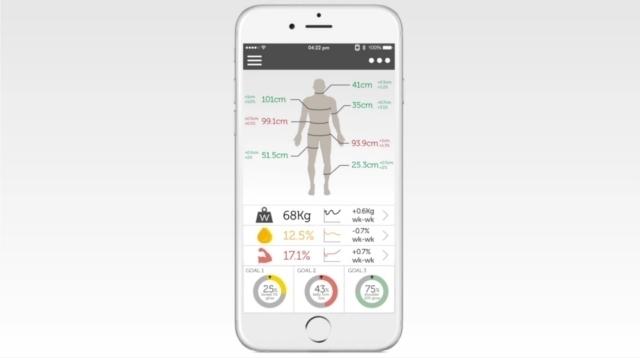 トレーニングやダイエットの成果がすぐにわかる、筋肉や脂肪の増減が一目でわかる、体を立体スキャンする体重計ShapeScale_3
