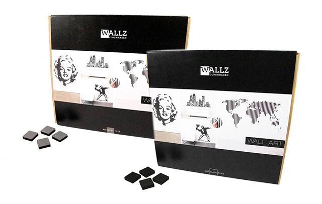 「Wallz Copenhargen」は、タイルを並べて自由に壁アートがDIYできる商品。2カラーで800ピース入りです。