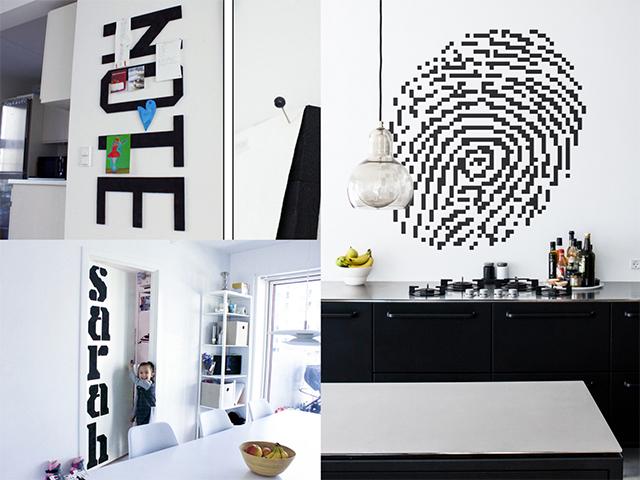 「Wallz Copenhargen」は、タイルを並べて自由に壁アートがDIYできる商品。ウレタン素材だから画びょうやピンを刺しても大丈夫。