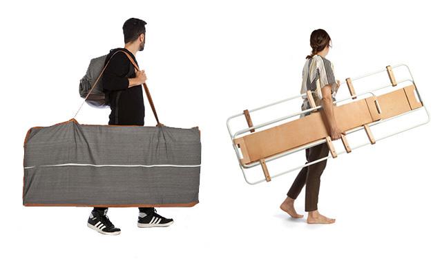 一人暮らしにぴったりのミニマルな家具「Lynko modular furniture system」は、フレームの家具。そこに様々なオプショナルパーツを取り付けることで、自分の暮らしにベストフィットする家具を、自らデザインできるのが最大の魅力です。6