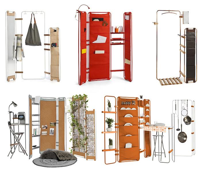 一人暮らしにぴったりのミニマルな家具「Lynko modular furniture system」は、フレームの家具。そこに様々なオプショナルパーツを取り付けることで、自分の暮らしにベストフィットする家具を、自らデザインできるのが最大の魅力です。top
