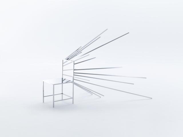 佐藤オオキ率いるデザインオフィス「nendo」が、ニューヨークのフリードマン ベンダ ギャラリーのために制作したマンガがモチーフの50脚のイス「50 manga chairs」をご紹介。マンガでよく見る効果線を意識したイス。