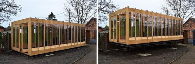 洪水が発生したら、浸水しないようにボタン一つで80センチまで家を持ち上げることができる、Between Art and Technology (BAT) Studioによる大胆発想の家「Greenhouse That Grows Legs(脚が生えるグリーンハウス)」をご紹介。3