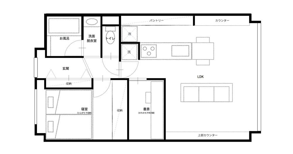 マイホームの購入をなかなか決断できない人がいる一方、27歳の小山和之さんと奥様は、35年ローンで都内のリノベ物件に住むことを選択しました。建築事務所で働いていた経験を活かし、細かいディテールまでこだわって完成させた家は、造作キッチンや小上がり、収納、作り付け棚など新婚のふたりにとっての理想の空間。4