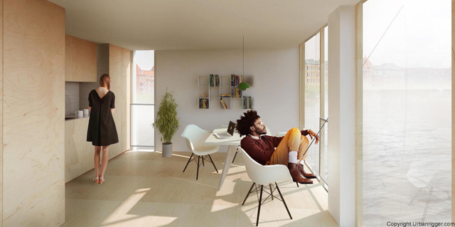 学生の住居問題を解決するために生まれたコンテナ製ドミトリー「Urban Rigger」は、住居費の高い北欧・コペンハーゲンで始まったプロジェクト。水上にドミトリーを作ることで、家賃や場所の問題の解決を目指すおしゃなアパート。5