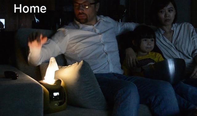 現在Kickstarterでクラウドファウンディング中の多機能ティッシュケース「AURORA」の紹介です。触れると光る機能から、スマホ連動して着信通知、会議のアラートまで可能です。オーロラのような優しい光が部屋の中に灯ります。部屋の中で暗くして映画を見ているときも役立ちます。