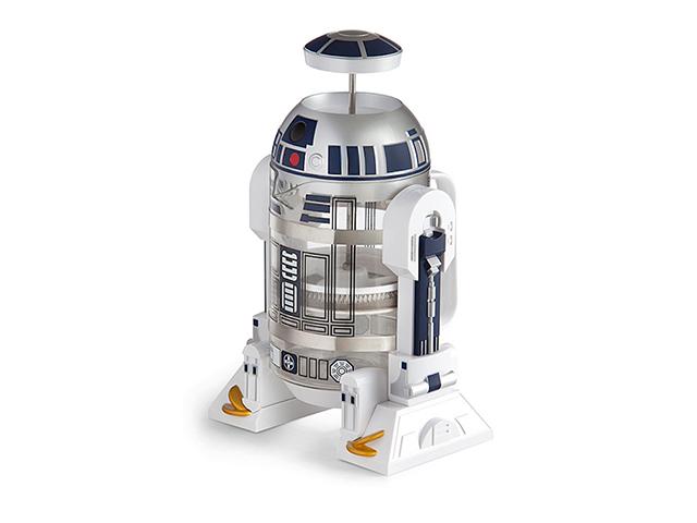 R2-D2が口からコーヒーを注いでくれるフレンチプレス「Star Wars R2-D2 Coffee Press」の紹介。内容量は32オンスと、やや大きめのサイズ。細部までこだわったデザインが施されているので、『スターウォーズ』ファンも唸ること間違いナシ。2