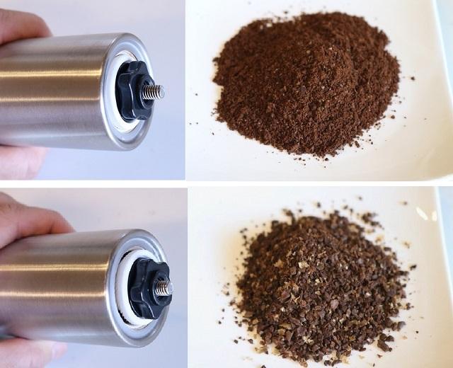 コーヒーは挽きたて淹れたてが一番おいしいのは言うまでもありませんが、コーヒー豆を挽く「ミル」は意外に場所をとるキッチンツールの一つです。そこで紹介したいのがスリム型のコーヒーミル「E-PRANCE 手挽きコーヒーミル」。スリムなシェイプなので、収納しても場所を取りません。2