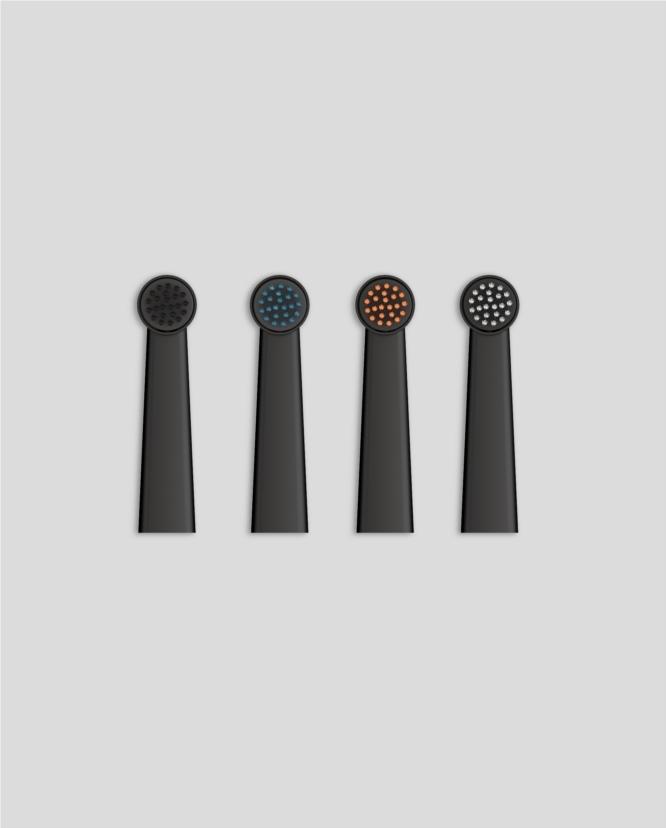 ストックホルム発、バスルームに特化した電化製品ブランド「BRUZZONI™」の電動歯ブラシ「The Wall Street Collection」。本体だけでなくチャージスタンドまで美しく、携帯性に優れているので、念のためバッグに常にひそませて。
