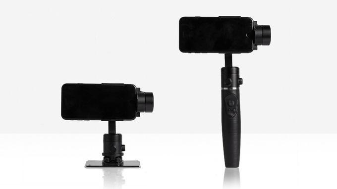 Kickstarterでクラウドファンディング開始1時間で目標金額を達成したスマートフォン用スタビライザー「FlowMotion ONE」。センサーと3D技術を駆使した補正技術はもちろん、アプリと連動した自動追尾機能などの機能も充実。