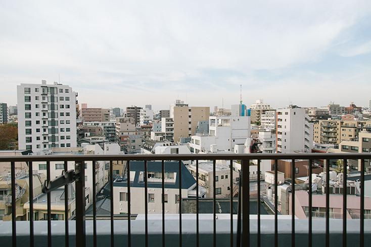 素敵なテラスがある賃貸住宅の眺め