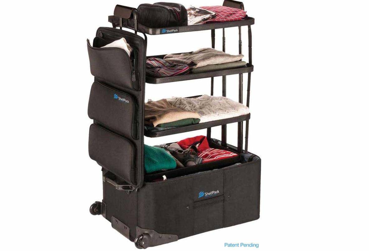 旅行は好きだが、パッキングは面倒だと感じる人もいるだろう。そんな方に紹介したいのが、「Shelfpack」。文字通りシェルフ(棚)のようなスーツケースだ。4段の棚がスーツケース内に収まるように設計されている。4