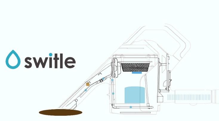 掃除機に取り付けると「水洗い掃除機」になるクリーナーヘッドswitle(スイトル)は大掃除にぴったり。家庭にあるキャニスター型の掃除機の先に取り付けると、特許技術により、掃除機の吸引力だけを使って水を噴射して吸い取る」を実現。1