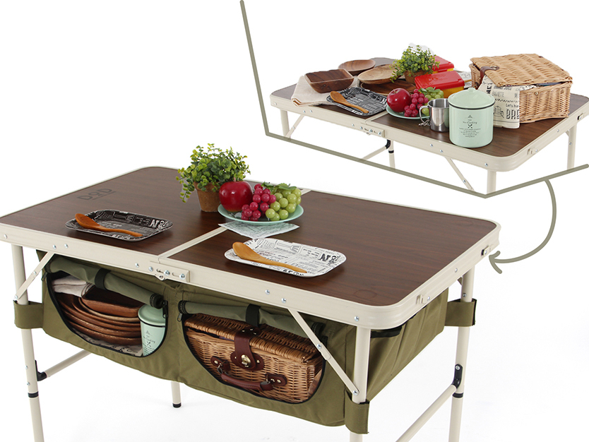 キャンプの準備欲を掻き立てるグッズが、ビーズ株式会社のアウトドア用品ブランド「DOPPELGANGER OUTDOOR(R)(ドッペルギャンガーアウトドア)」より発売。車内でキャンプ用品を整理するための棚になるように設計された、チェア「グッドラックソファ」とテーブル「グッドラックテーブル」で、グランピングも楽しめる。7