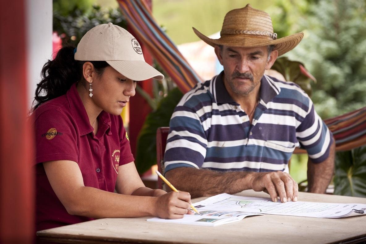 Diego Jaramillo Diez, Farmer and Liliana Franco Rodriguez, Nespresso Agronomist, Jardin Colombia