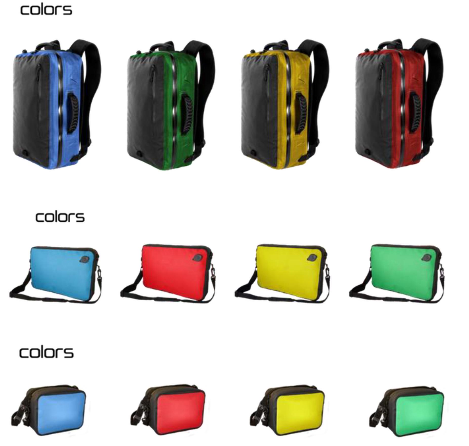 超軽量でありながら、衝撃に強く、水も通さないバッグシリーズ「Capsula Backpack & Bag」を紹介。内蔵バルブから空気を吹き込むことで、重さを増やさずに耐衝撃性の向上を実現。特殊なジッパーを使用し、耐水性も抜群のバックパックだ。