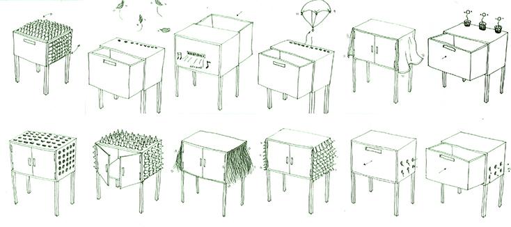 オランダ在住の韓国人デザイナー・JUNO JEONさんが、そんな空想をもとにデザインした「Alive furniture Series」のチェストがまるでドラゴンみたいだ。「八百の神」という概念が存在するように、モノを「命あるもの」として捉える文化を持つ日本では、どのように受け止められるのだろうか。3