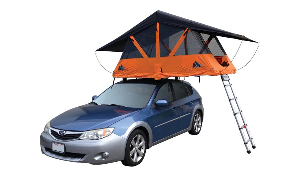 アメリカのアウトドアブランド・TEPIU Tentsの「Baja Series」という、車の屋根に取り付けて、傘のように開いて使うタイプのテントシリーズの紹介。ゴツゴツとした地面の起伏から解放され、寝心地の良さは格段に上がるだろう。top