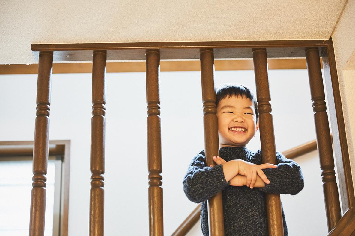 子供のかわいい笑顔