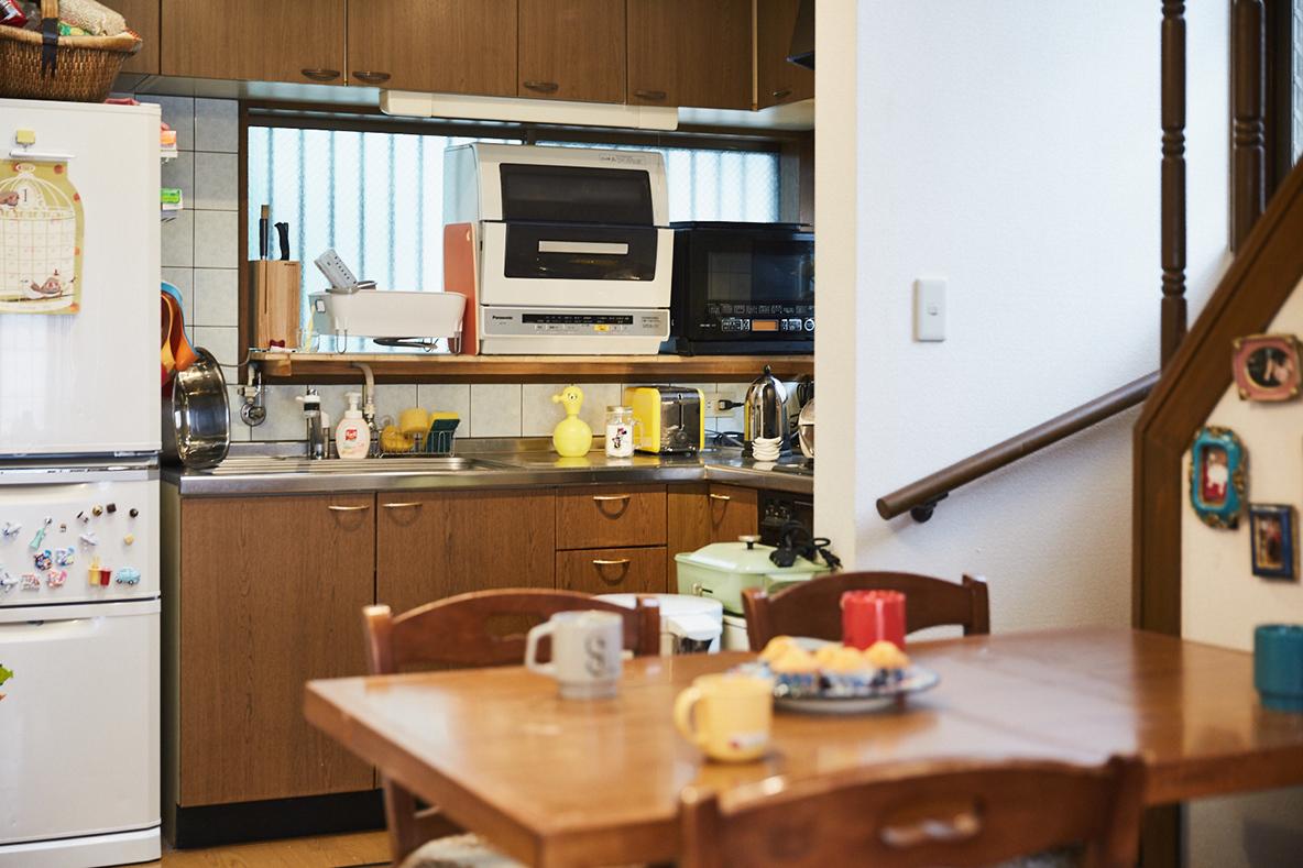 代々木上原の家のキッチン