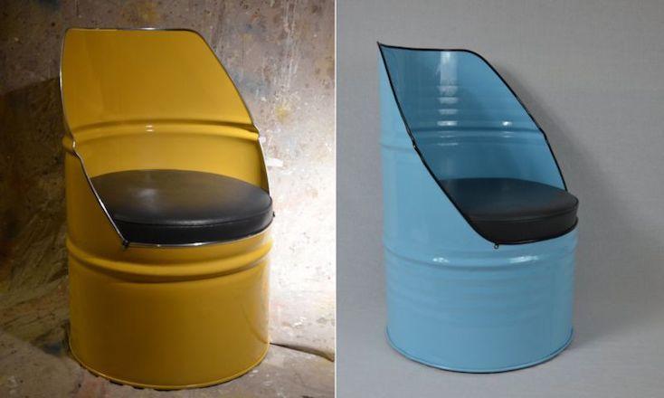 Etsyで販売中の、レトロ感がたまらないドラム缶家具「White's Modern Industrial」の紹介。再利用の新しい形がおもしろく、さまざまな場所にフィットしそうな家具だ。同じようなドラム缶でも、ひとつひとつ違った味が出る。