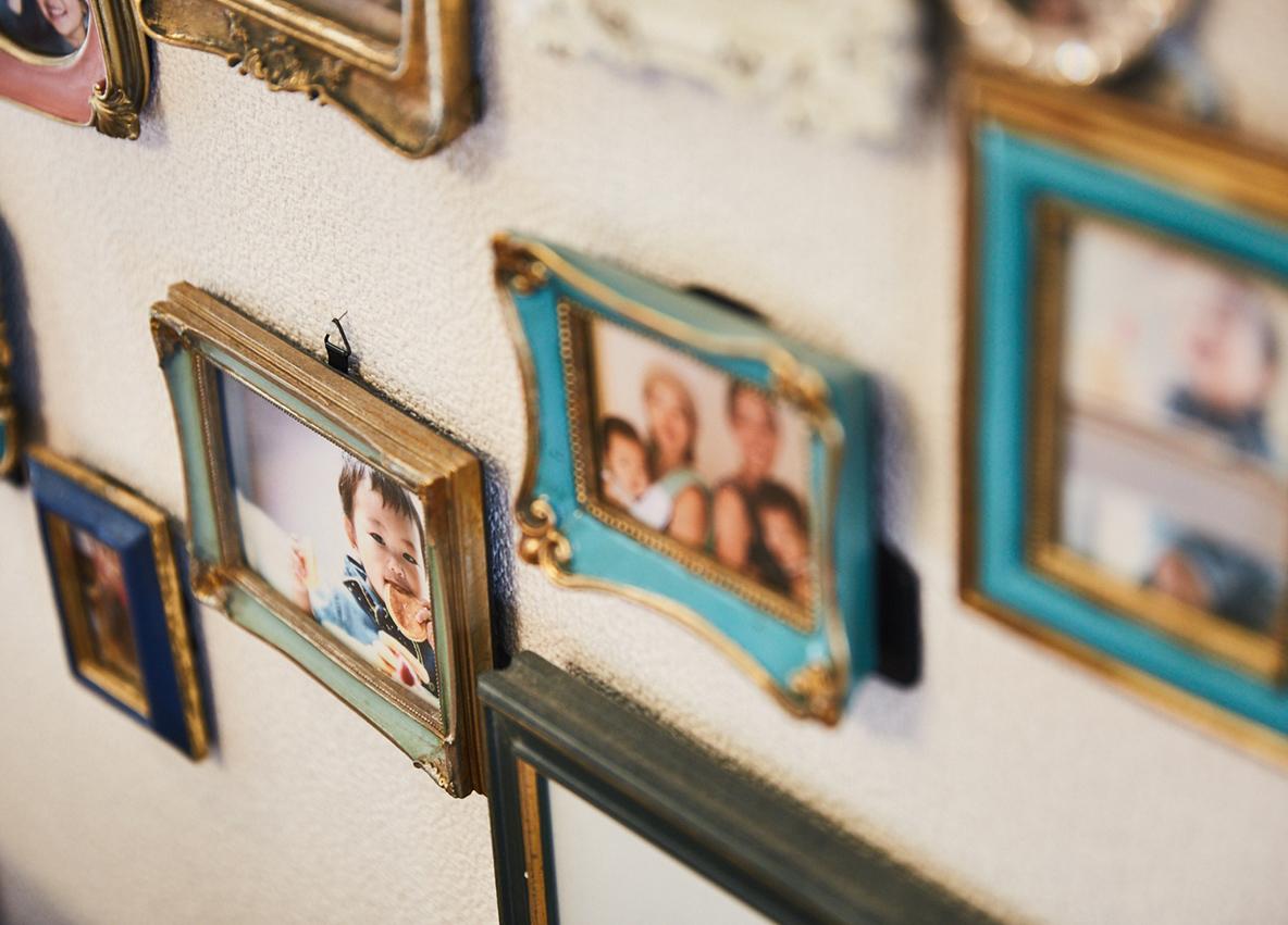 家族写真のおしゃれな飾り方