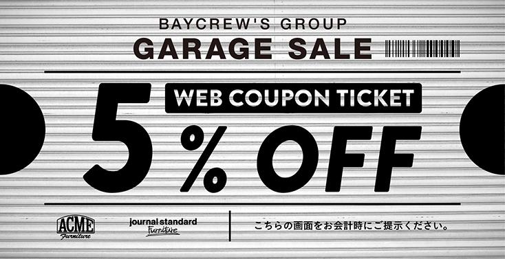 BAYCREW'S GROUP ガレージセールのクーポン
