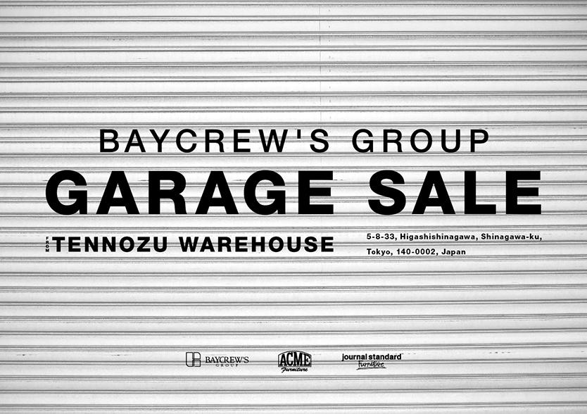 ベイクルーズグループウェアハウスでのBAYCREW'S GROUP ガレージセール