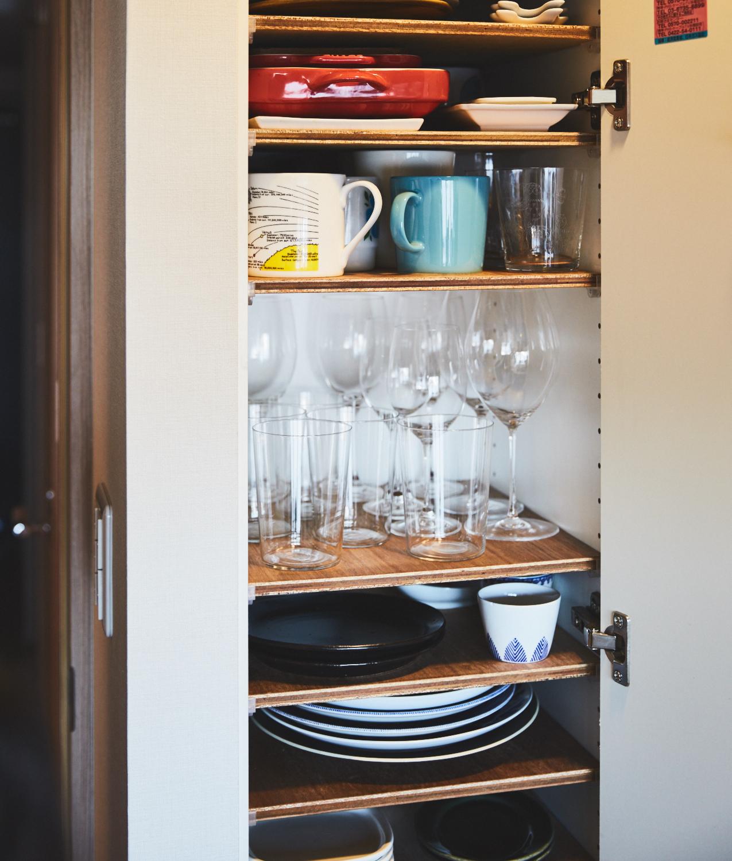 キッチンの便利な棚をDIY