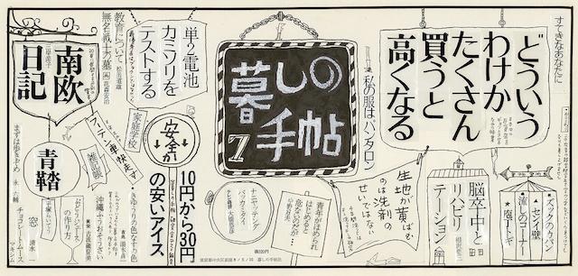 新聞広告「暮しの手帖2世紀7号」の版下