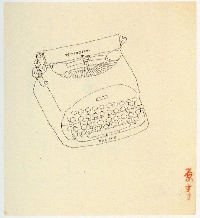 カット原画(タイプライター)、画:花森安治