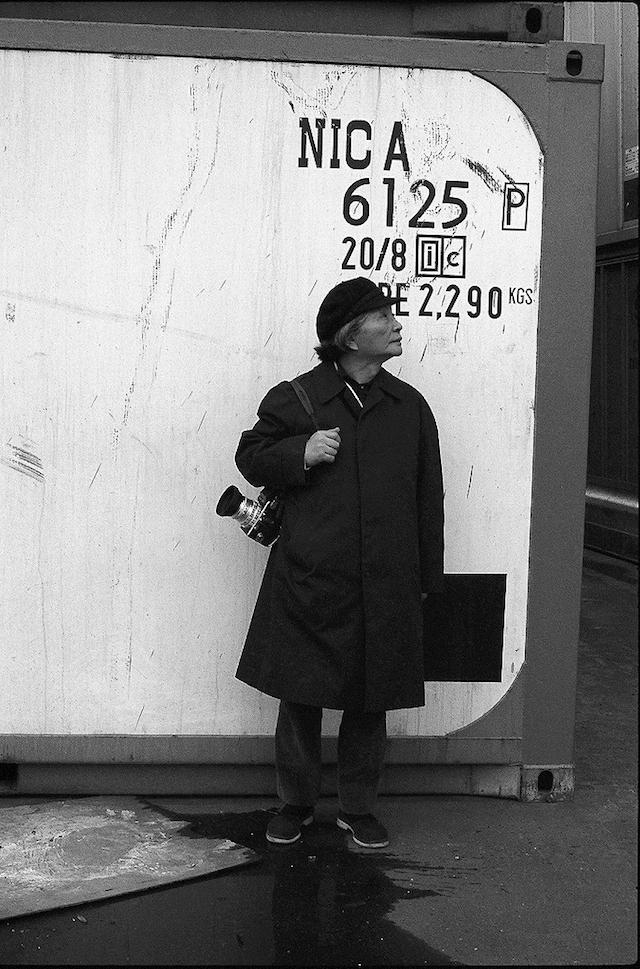 取材する花森安治、1970年代初頭