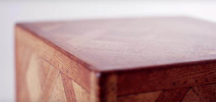 スツールにしたいオブジェクトを高解像度で撮影し、キューブ型にプリント