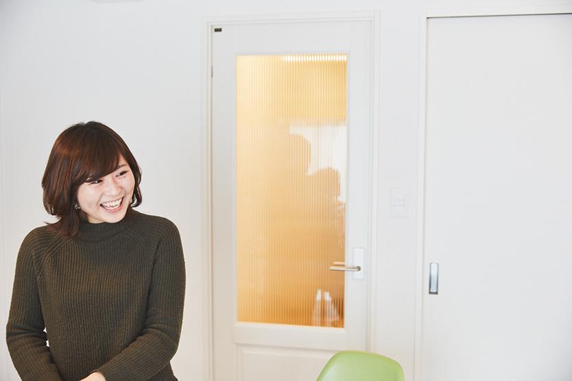 かわいい笑顔の中田さん
