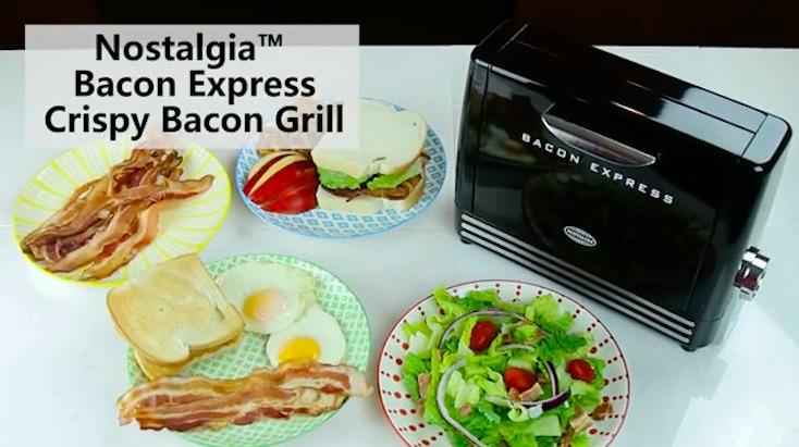 Nostalgia Electricsが作る、ベーコン専用トースター「Bacon Express」の紹介