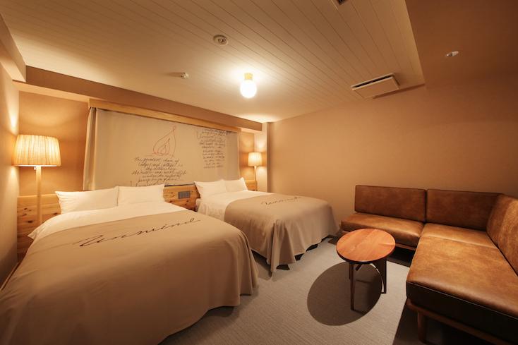 Hotel Unwinedのツインルーム