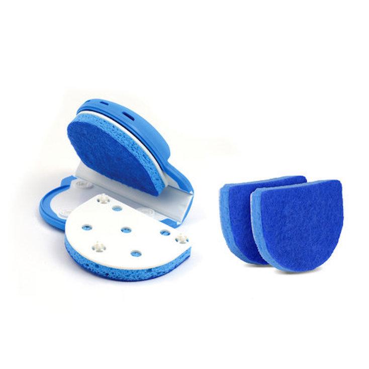 刃物を洗うときに、絶対に怪我をしないように設計されたスポンジ「Skrub」の紹介