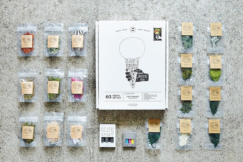 手軽に植物を楽しめるキットGREEN ART KITのカスタムアイテム