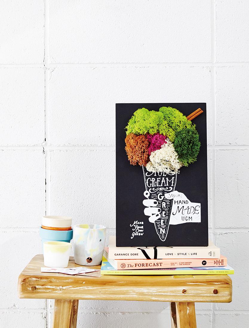 部屋に簡単に植物を飾れるかわいいキットGREEN ART KIT