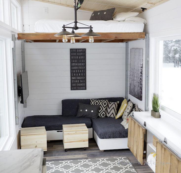 ミニマルなベッドスペースのアイデア