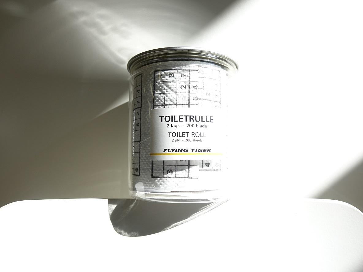 今回はフライングタイガーで見つけた、ナンプレがプリントされたトイレットペーパーをご紹介
