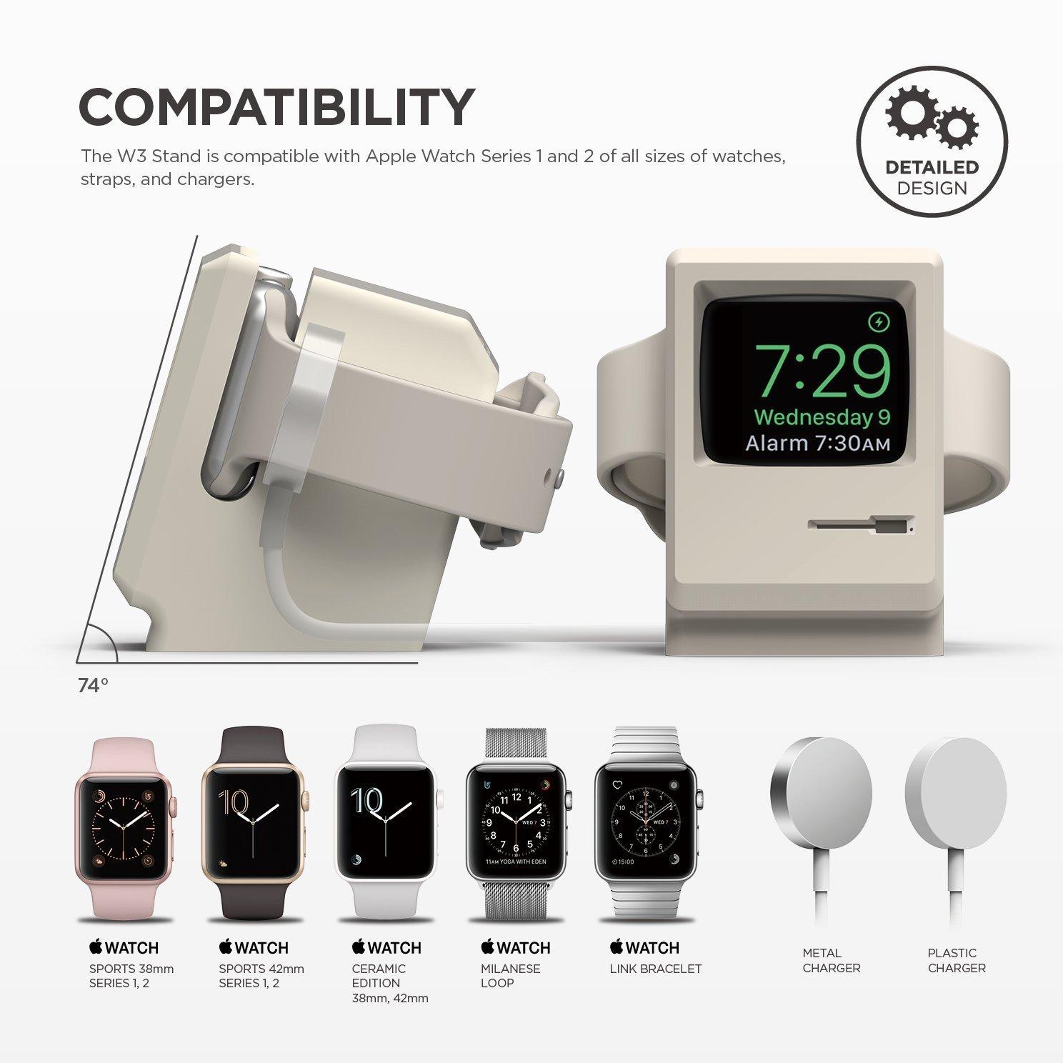 初代マッキントッシュ風のApple Watch専用充電器「elago W3 STAND」