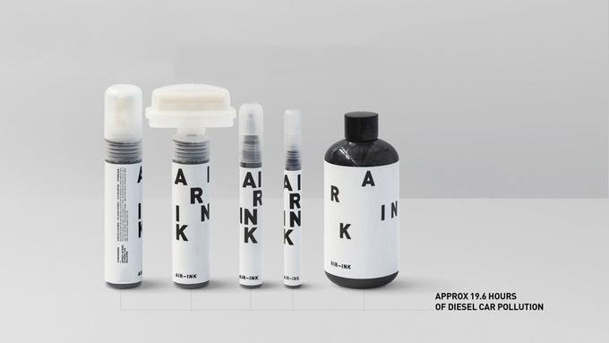 車の排気ガスをフィルターし、浄化する際に採れる炭素からつくられたペン「AIR-INK」の紹介。制作背景、色味や書き心地を多くのアーティストから評価されている、話題沸騰中の画材だ。top