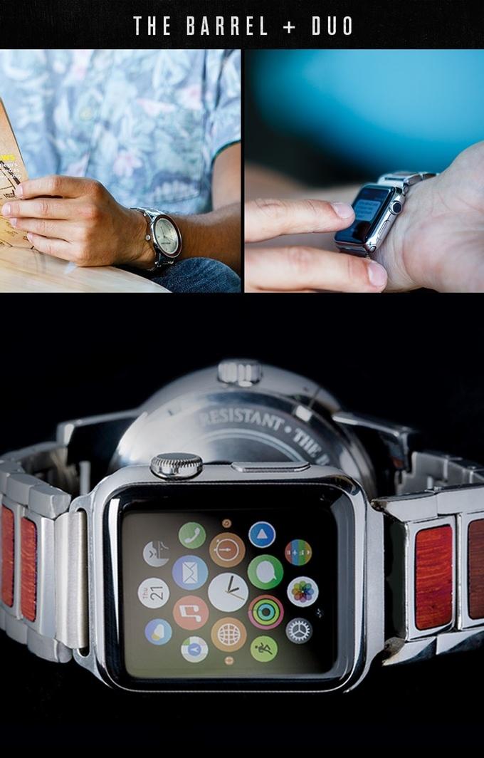 歴史が刻まれたウイスキーの樽材と、無機質なステンレス鋼を組み合わせたスタイリッシュな腕時計「THE BARREL」を紹介