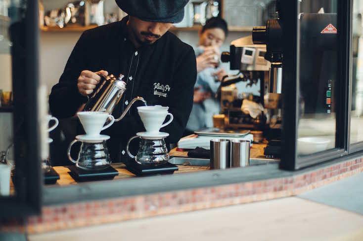 朝の8時から営業しているので、出発前においしいコーヒーを飲んでからエネルギーチャージができる