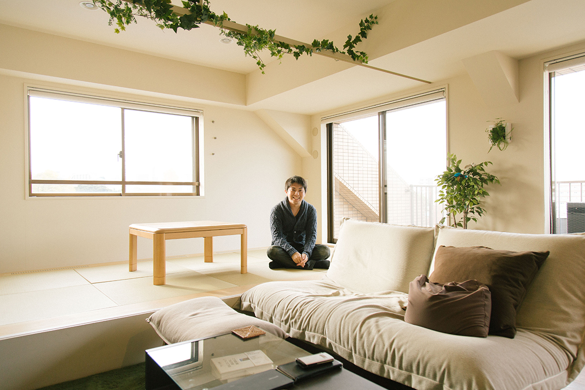 22平米のテラスが最高な、悠々自適の1人暮らし